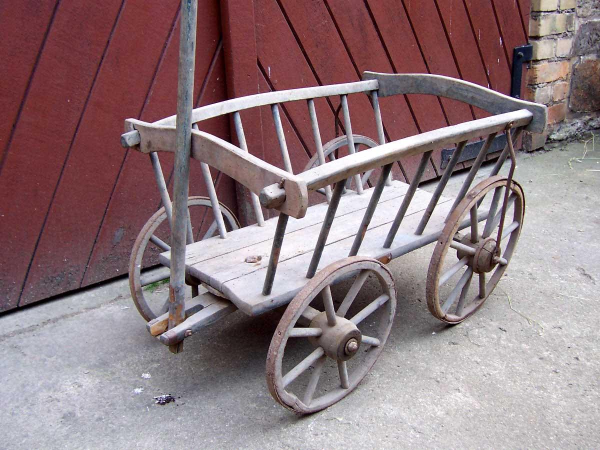 Kleiner NAETHER Holz Handwagen Leiterwagen für Kinder; ca. 1920; mit ...